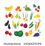 collection of ripe fresh... | Shutterstock .eps vector #1426425194