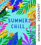 summer vector illustration with ... | Shutterstock .eps vector #1426429697
