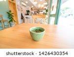 hot tea on wooden table.   Shutterstock . vector #1426430354