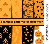 set of seamless patterns for... | Shutterstock .eps vector #1426439141