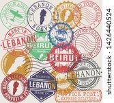 beirut lebanon set of stamps.... | Shutterstock .eps vector #1426440524