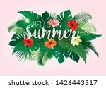 summer tropical holiday... | Shutterstock .eps vector #1426443317