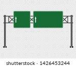 green traffic sign road board...   Shutterstock .eps vector #1426453244
