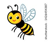 cute wasp on a white background....   Shutterstock .eps vector #1426454387