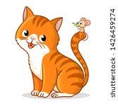 cute cat with a cute little...   Shutterstock .eps vector #1426459274