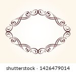 elegant  retro frame .vector... | Shutterstock .eps vector #1426479014