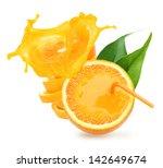 stack of orange fruit slices... | Shutterstock . vector #142649674