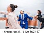 a group of joyful...   Shutterstock . vector #1426502447