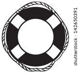 Symbol Lifebuoy Isolated On...