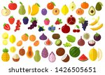 flat design fresh raw fruits... | Shutterstock .eps vector #1426505651