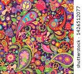 hippie vivid colorful wallpaper ... | Shutterstock .eps vector #1426512077