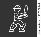 cricket player chalk icon.... | Shutterstock .eps vector #1426538144