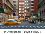 new york city evening street...   Shutterstock . vector #1426545077
