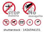 stop malaria no mosquito bite... | Shutterstock .eps vector #1426546151