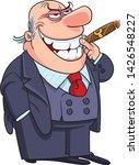 businessman in suit smoking...   Shutterstock .eps vector #1426548227