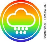 rain cloud circular icon with... | Shutterstock .eps vector #1426552307