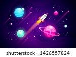 vector illustration space... | Shutterstock .eps vector #1426557824