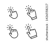 hands clicking icons collection.... | Shutterstock .eps vector #1426558217