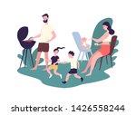 happy family spending time at... | Shutterstock .eps vector #1426558244