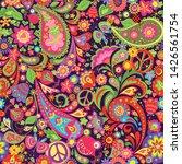 hippie vivid colorful wallpaper ... | Shutterstock .eps vector #1426561754