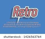 retro color font and alphabet.... | Shutterstock .eps vector #1426563764
