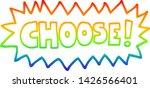 rainbow gradient line drawing... | Shutterstock .eps vector #1426566401