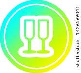 champagne glasses circular icon ... | Shutterstock .eps vector #1426569041