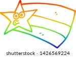 rainbow gradient line drawing... | Shutterstock .eps vector #1426569224