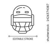 cricket helmet linear icon.... | Shutterstock .eps vector #1426574387