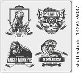 hockey badges  labels and... | Shutterstock .eps vector #1426576037