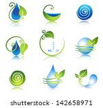beautiful water and leaf symbol ... | Shutterstock .eps vector #142658971