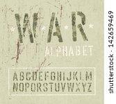camouflage grunge alphabet.... | Shutterstock . vector #142659469