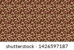 giraffe animal print seamless... | Shutterstock . vector #1426597187
