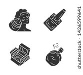 makeup products glyph icons set.... | Shutterstock .eps vector #1426599641