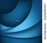 blue curve overlap vector... | Shutterstock .eps vector #1426600337