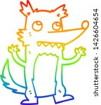 rainbow gradient line drawing... | Shutterstock .eps vector #1426604654