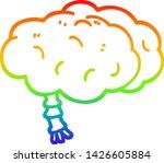 rainbow gradient line drawing... | Shutterstock .eps vector #1426605884
