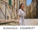 young pretty woman smiling.... | Shutterstock . vector #1426608197