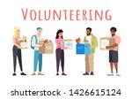volunteering and donations... | Shutterstock .eps vector #1426615124