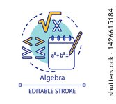 algebra concept icon. algebraic ... | Shutterstock .eps vector #1426615184