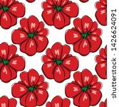 vector seamless pattern with... | Shutterstock .eps vector #1426624091