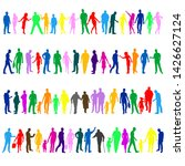collection of colored people...   Shutterstock .eps vector #1426627124