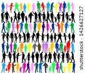 collection of colorful people...   Shutterstock .eps vector #1426627127