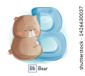 Stock vector cute animal alphabet series a z 1426630037