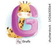 Stock vector cute animal alphabet series a z 1426630064
