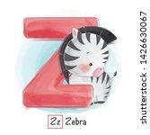 Stock vector cute animal alphabet series a z 1426630067