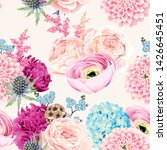 seamless pattern with pink and... | Shutterstock .eps vector #1426645451