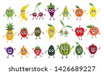 cute cartoon fruits set in flat ... | Shutterstock .eps vector #1426689227