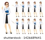 female doctor set in different... | Shutterstock .eps vector #1426689641