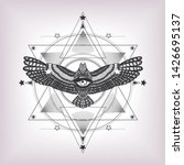 eye of providence with sacred... | Shutterstock .eps vector #1426695137